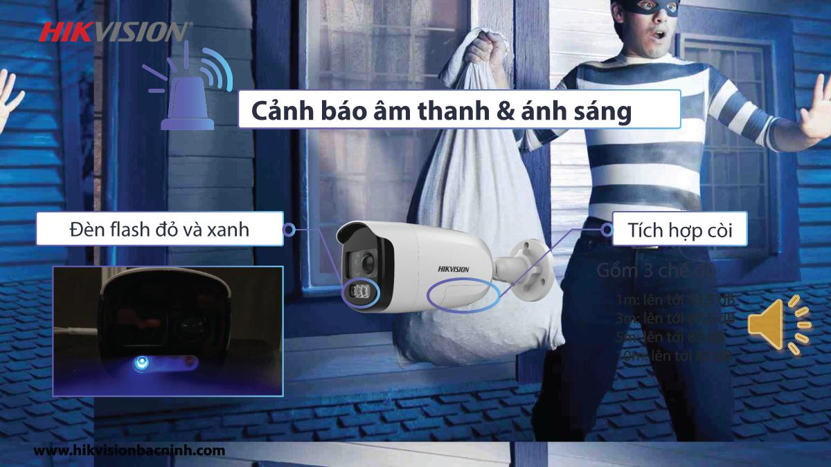 Camera Color Vu tích hợp đèn nháy và còi báo động. (4)