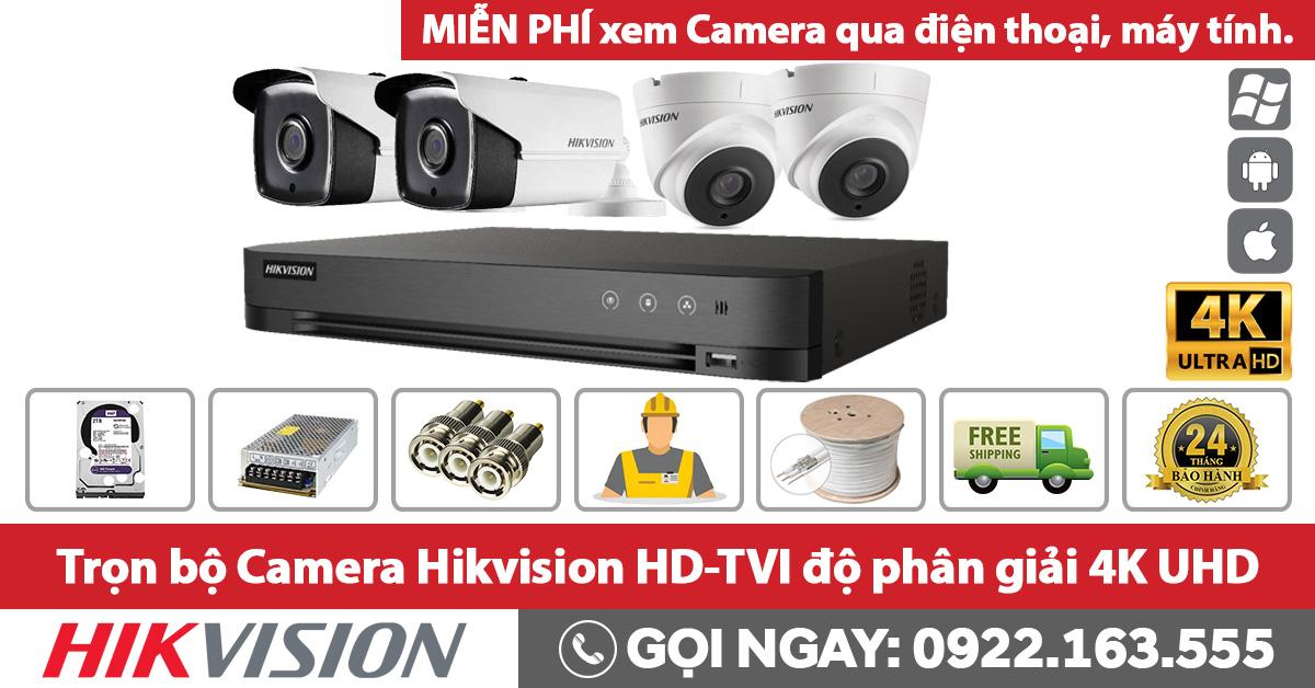 Trọn Bộ hd-tvi Camera Hikvision 4K UHD