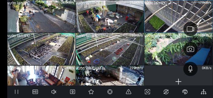 lắp camera, báo động bảo vệ vườn lan 2