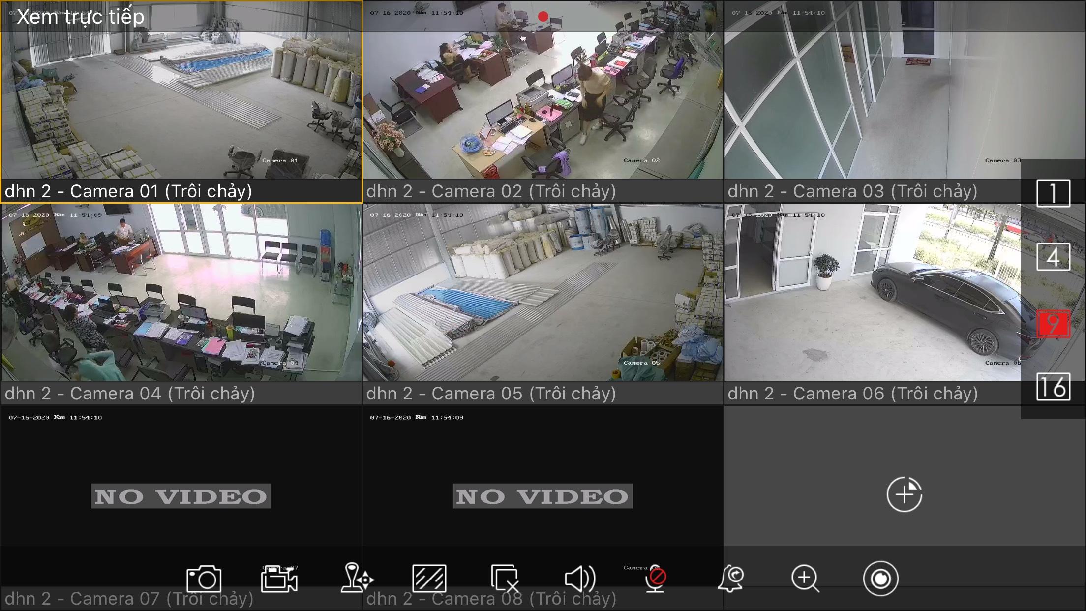 Hệ thống 06 Camera lắp thêm cho Công ty Đại Hoàng Nam