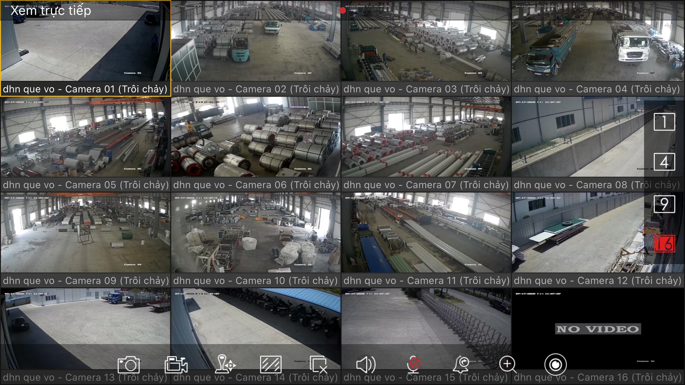 Công trình camera Hikvision cho công ty Đại Hoàng Nam